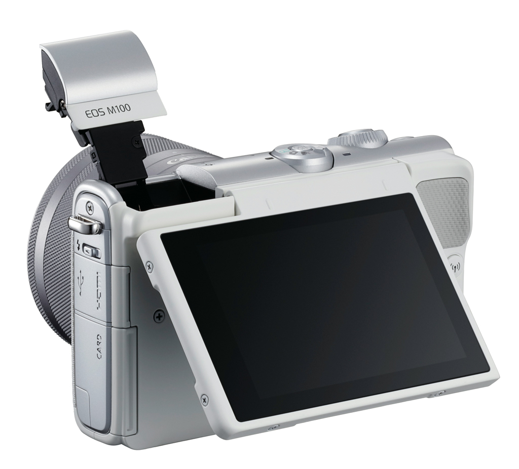 Canon EOS M100 white back Monitor