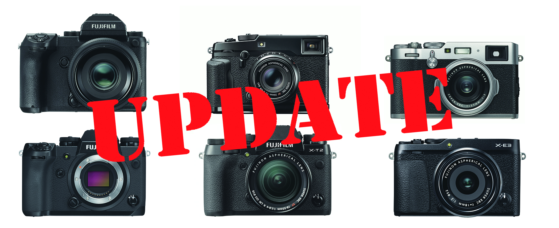 Fujifilm Firmware-Updates April, Mai 2018