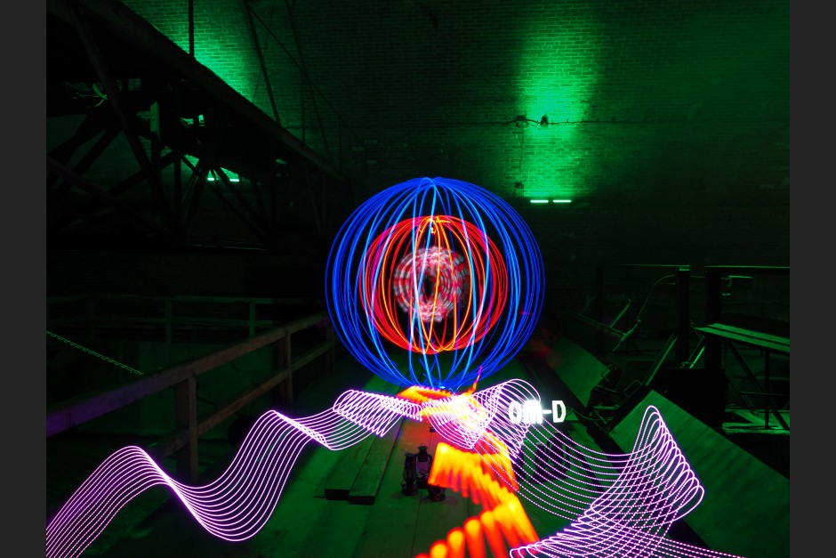 Olympus OM-D E-M5 II, 2,8/12-40 mm, Lightpainting with Live-Composite. Artists: Zhenya E. Ospanov and Olaf Schieche