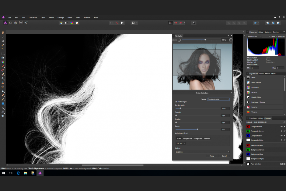 Affinity Photo Auswahl Tool