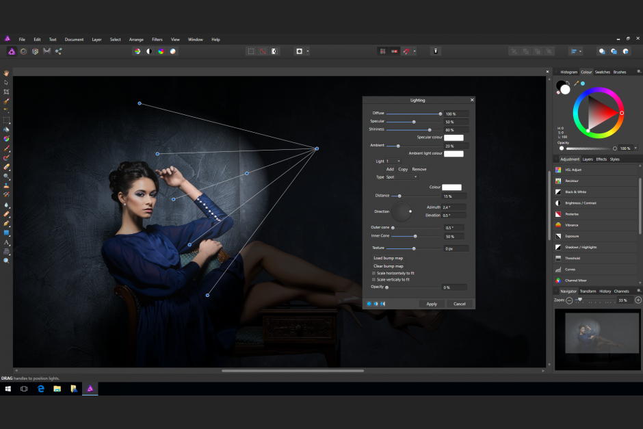 Affinity Photo Beleuchtung