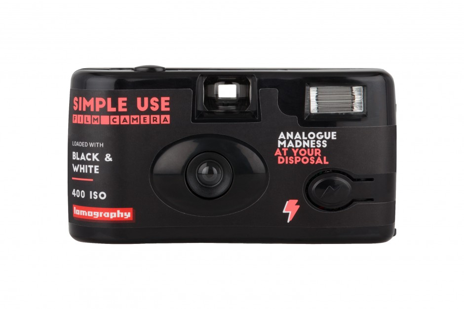 Lomography Simple Use Film Camera: Black White Front