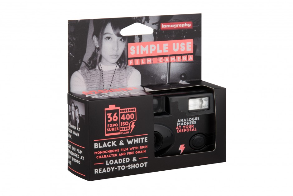 Lomography Simple Use Film Camera: Black White Packaging