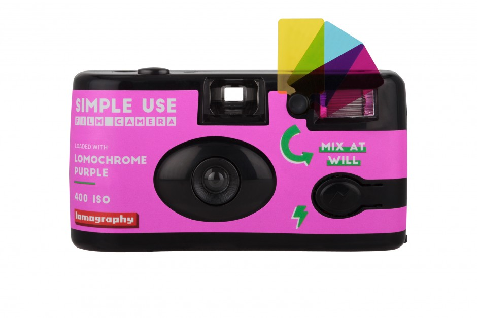 Lomography Simple Use Film Camera: LomoChrome Purple Front