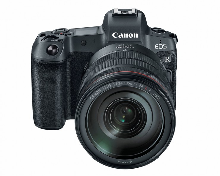 Canon EOS R top front
