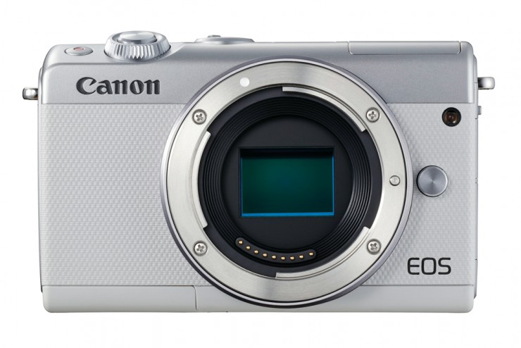 Canon EOS M100 white frontal