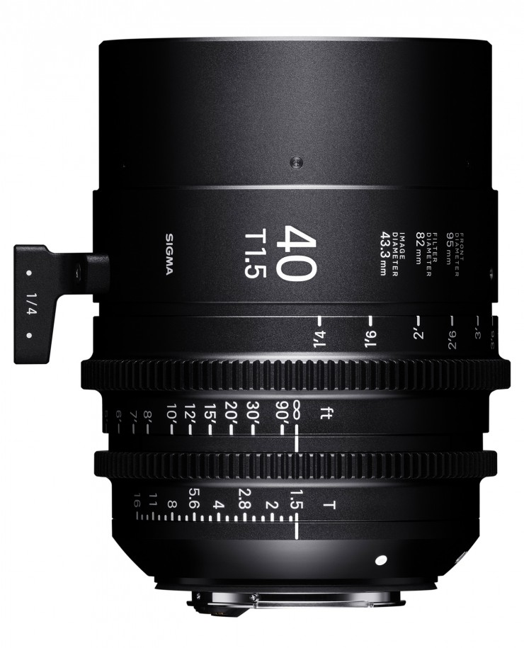 Sigma Cine Objektiv Film Video Festbrennweite 28 40 105 mm FF-High-Speed-Prime-Line LPL-Mount IBC photokina 1,4/28 mm Art 1,4/40 T1.5/28 mm FF, T1.5/40 mm FF und T1.5/105 mm FF