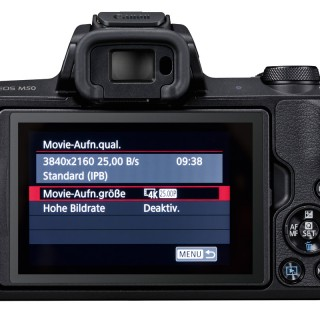 Canon EOS M50 back Monitor