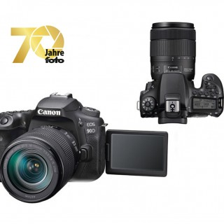 Canon EOS 90D front mit Monitor